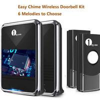 1byone Wireless Doorbell Waterproof Door Chime Kit Operating at over 1000 Feet