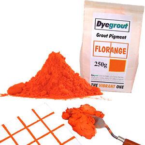 250 gram - Florange Vibrant Orange Grout Pigment for Mosaics Cement Dye Dyegrout