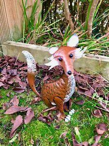 Hand Crafted Metal Fox Garden Animal Fox Ornament Fox Sculpture Fox Gift