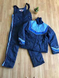 VINTAGE POLARIS Snowmobile Snowsuit Combo Jacket/Overall Pants Mens SIZE SMALL
