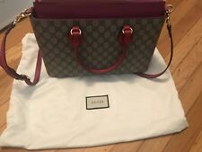 070a045636c Gucci GG Supreme Tote-Shoulder Bag Hibiscus Red Color Made in Italy