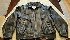 Watershed Leather Jacket Lamb Skin Mens M Black Fighter Bomber Motorcycle