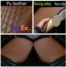 1Pair Comfortable Breathable Pu Leather Universal Car Seat Cover Cushion Pad Mat(Fits: More than one vehicle)