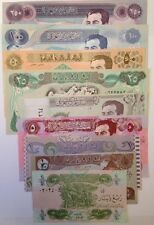 IRAQ GULF WAR SADDAM IRAQI DINAR COLLECTIBLE 9 NOTE SET BUY FROM A USA SELLER !!