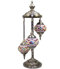 TURKISH MOSAIC LAMP Glass Table Lamp LIGHT Swan Neck Pole Mosaic Lantern 345