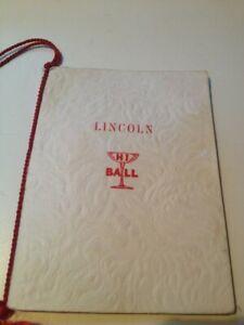 Vintage 1944 Lincoln High School Senior Prom Dance Card Portland Oregon