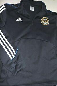 PHILADELPHIA UNION track style jacket LARGE soccer MLS blue Adidas