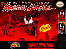 SPIDERMAN MAXIMUM CARNAGE SNES SUPER NINTENDO GAME COSMETIC WEAR