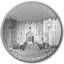 ISRAEL 2018 JERUSALEM SERIES DAMASCUS GATE BULLION PROOF 1oz PURE SILVER COIN