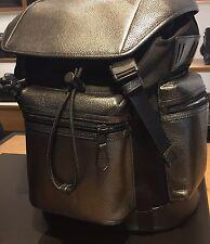COACH Trek Pack Rucksack Backpack Men's Leather Silver Gun NWT