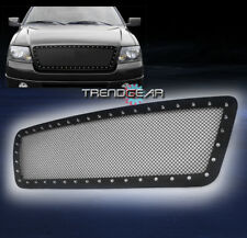 2004-2008 FORD F-150 FRONT UPPER RIVET STAINLESS STEEL MESH GRILLE GRILL BLACK
