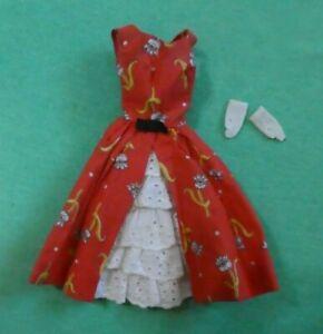 Vintage Barbie Doll Clothes - Vintage Barbie 1606 Garden Tea Party Dress