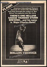 ROLLING THUNDER__Original 1977 Trade AD / poster__WILLIAM DEVANE_TOMMY LEE JONES