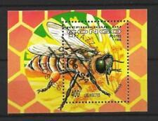 Animaux Insectes Abeilles Congo (62) bloc oblitéré