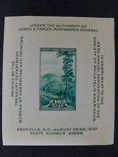 USA 1937 #797 43rd Annual Convention of Society of Philatelic Americans MNH