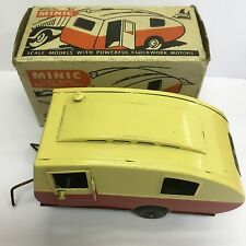 Vintage Triang Minic Red / Cream Caravan Boxed