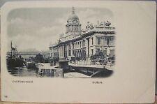 Irish Postcard CUSTOM HOUSE Dublin Ireland River Liffey Matte Photo Early udb