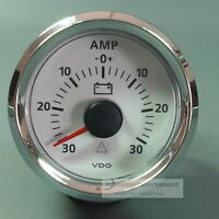VDO AMPEREMETER 30A  WEISS INSTRUMENT GAUGE  LED    AMMETER  VIEWLINE Chromring