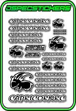 CAPRICORN RC STICKER A5 LAB 1/8 F1 1/10 TESLA ELECTRIC NITRO CAR HARD BLACK W