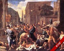 PHILISTINE PLAGUE OF ASHDOD 1 SAMUEL 5 BIBLE PAINTING ROME ART CANVAS PRINT