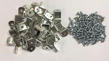 """50 x 5/8"""" Picture Frame Offset Clips With Screws for Canvas, Mirrors, etc"""