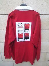 Maillot rugby STADE TOULOUSAIN vintage Champion années 90 coton shirt rouge XXL