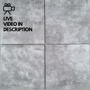 Drab Grey Stone Effect 60x60cm Exterior Interior Wall Floor Tiles 20m² Job Lot