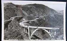 BRAZIL ~ 1950's SAO PAULO ~ VIA ANCHIETA ~ ASPECTO DAS 2 PISTAS ~ BRIDGE~ RPPC