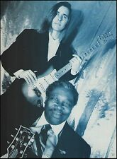 Eric Johnson Fender Stratocaster & B.B. King Gibson Lucille guitar 8 x 11 pinup