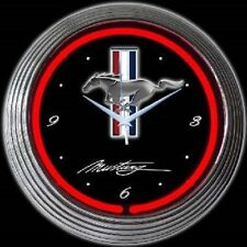 Ford Mustang Neon Clock 8MUSTANG w/ FREE Shipping
