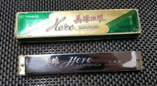 More details for original vintage hero harmonica / mouth organ in green box. 48 holes ,china