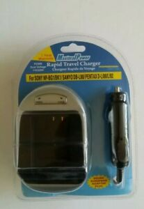 Maximal Power Rapid Travel Charger For SONY NP-BG1/BK1/SANYO DB-L80/PENTAX
