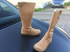 Dr Martens Monica brown tan calf length suede leather boots UK 3 EU 36