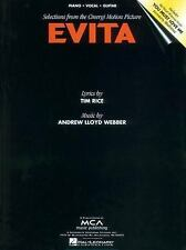 Evita by Hal Leonard Corp. Songbook Sheet Music Song Book