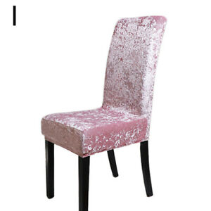 Soft Velvet Stretch Dining Chair Covers Slipcover Wedding Party Home Decor CA