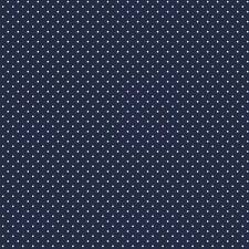 Baumwollstoff Pünktchen Navy Blau METERWARE Webware Popeline Stoff Dots