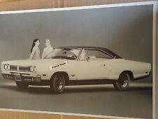 """12 By 18"""" Black & White PICTURE of 1969 Dodge Coronet 500 2 door hardtop"""