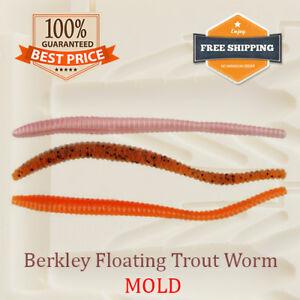 Berkley Floating Trout Worm Bait Mold Fishing Soft Plastic Lure 75 mm