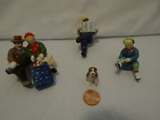 Dept 56 Snow Village Sitting In The Park 55100 Set of 4 Christmas Winter