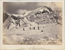 Suisse, Mont-BLanc, Assension, Cordée   Vintage albumin print Tirage album