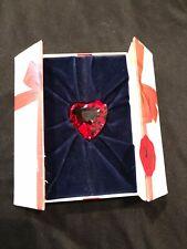 Swarovski Crystal Ruby Red Heart Paperweight in Original Box
