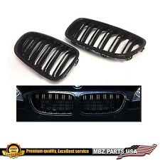F10 F11 5-SERIES BLACK GRILLE BMW 11-16 DOUBLE LINE KIDNEY M5 528i 550i 520i