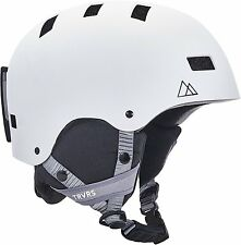 High End Audio Ski Snowboard Bike Helmet Ultimate Sport Protection Medium White