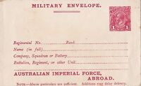 DB332) 1917 1d Red KGV Military Envelope ACSC ME5A