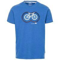 Trespass Mens T-Shirt Short Sleeve Summer Top Cotton Blend Quickdry Tee