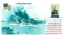 USS AUGUSTA CA-31 WW II Heavy Cruiser Photo Naval, China, Normandy, First Day PM
