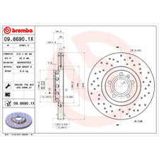 Bremsscheibe (2 Stück) BREMBO XTRA LINE - Brembo 09.8690.1X