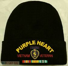 PURPLE HEART MEDAL VIETNAM VIET NAM VETERAN VET KNIT BEANIE WATCH CAP SKI HAT OS