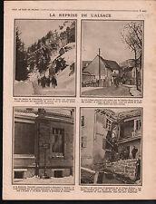 WWI Alsace Chasseurs Alpins Diables-Bleus la Schlucht Colmar 1915 ILLUSTRATION