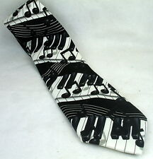 Really COOL!! Piano Key Notes Musical Men's Necktie Neck Tie EUC